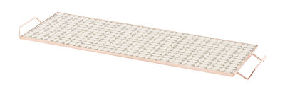 Plateau Mix&Match / 60 x 20 cm - Céramique & cuivre - Gan blanc,cuivre,gris en céramique