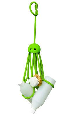 Interni - Bagno  - Portaoggetti Octopus - Piovra per doccia di Pa Design - Verde - Gomma