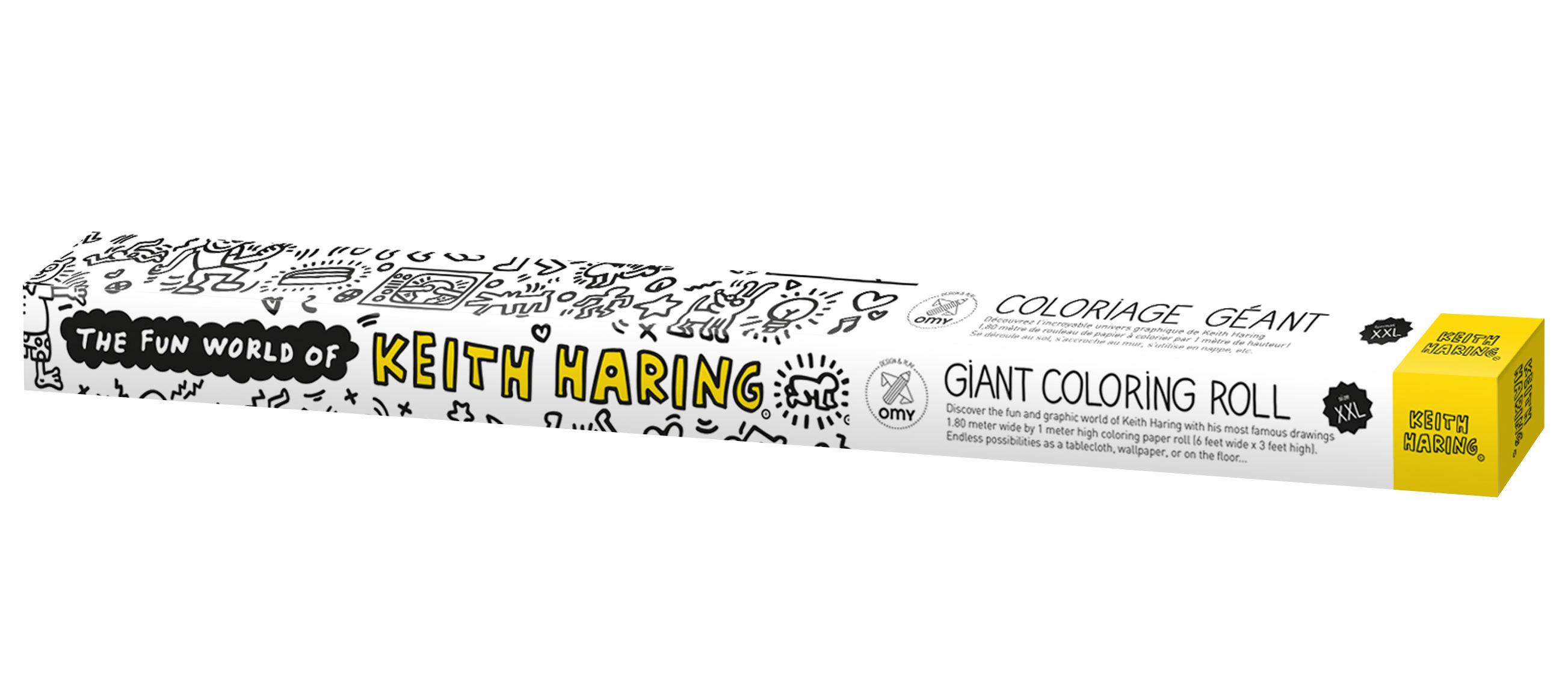 Déco - Pour les enfants - Poster à colorier XXL Keith Haring / 180 x 100 cm - OMY Design & Play - Keith Haring - Papier