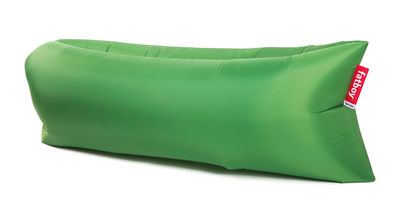 Pouf gonflable Lamzac the Original 2.0 / L 200 cm - Fatboy Pouf gonflé : L 200 x larg. 90 cm x H 50 cm - Pouf plié : L 35 x Ø 18 cm vert prairie en tissu