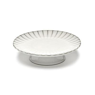 Arts de la table - Plats - Présentoir à gâteau Inku / Ø 24 cm - Grès - Serax - Blanc - Grès émaillé