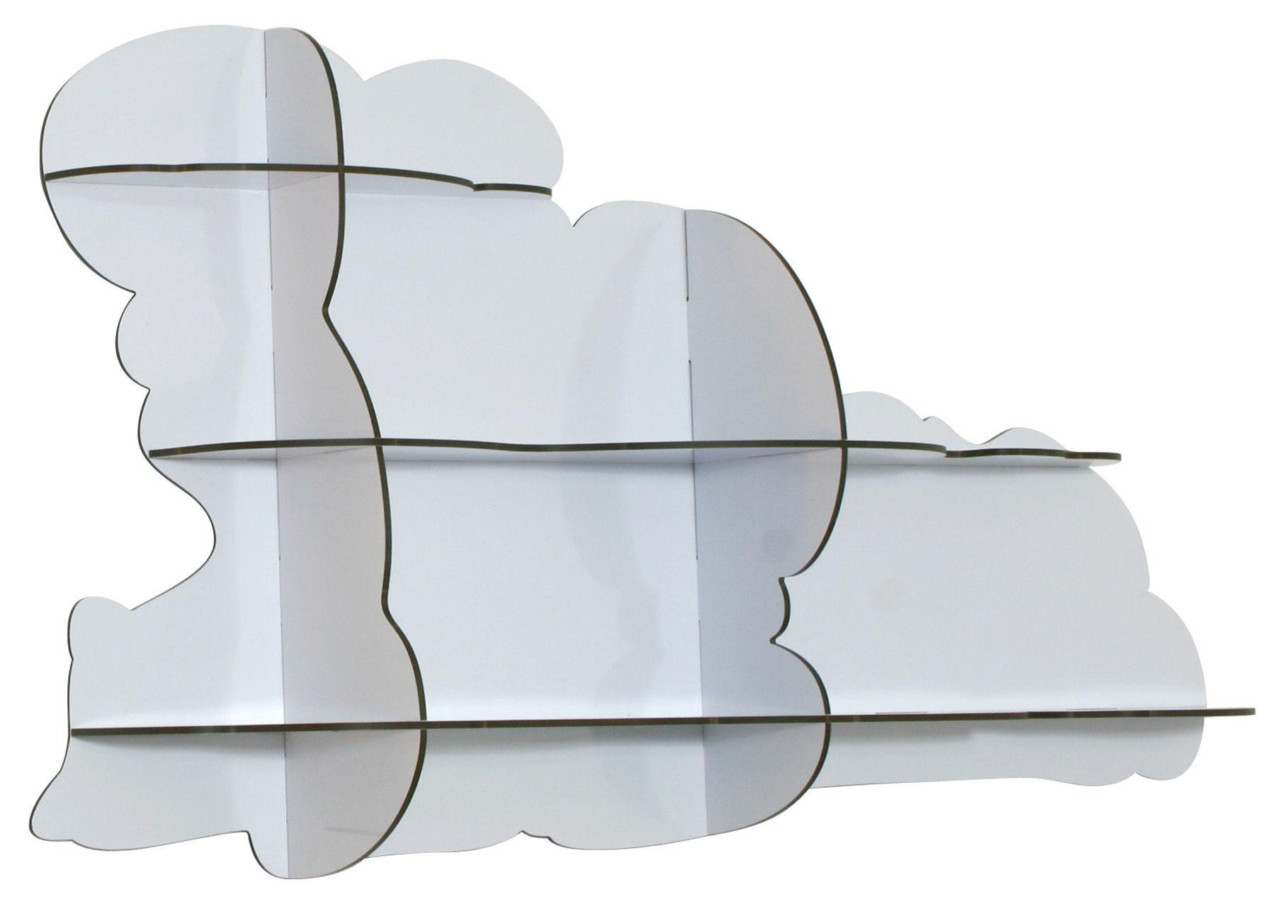 Arredamento - Scaffali e librerie - Scaffale Nimbus di Ibride - L 108 cm - Bianco - Laminato massello