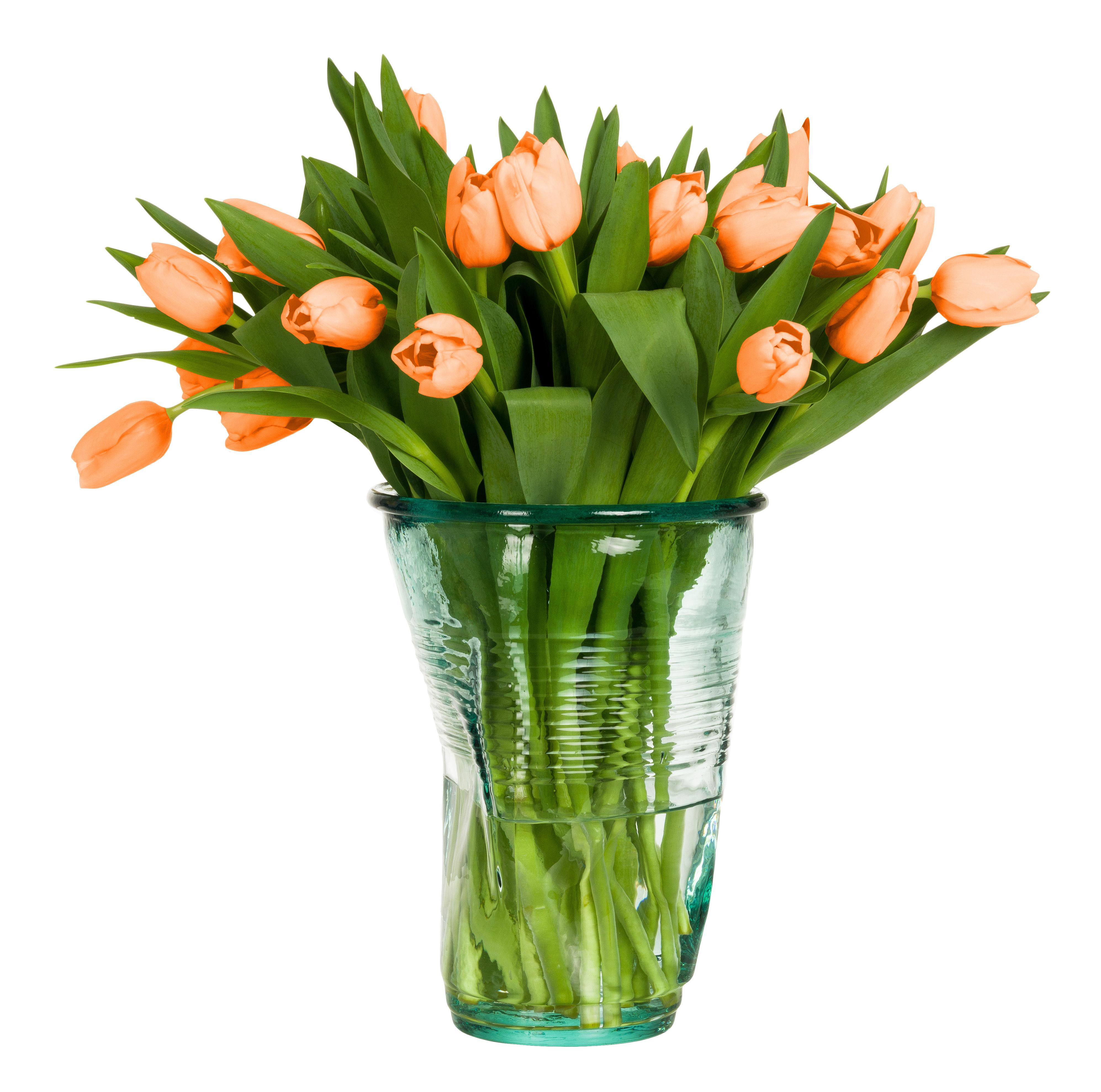 Déco - Vases - Seau à champagne / Vase en verre froissé - Rob Brandt - Pop Corn - Transparent - Verre recyclé