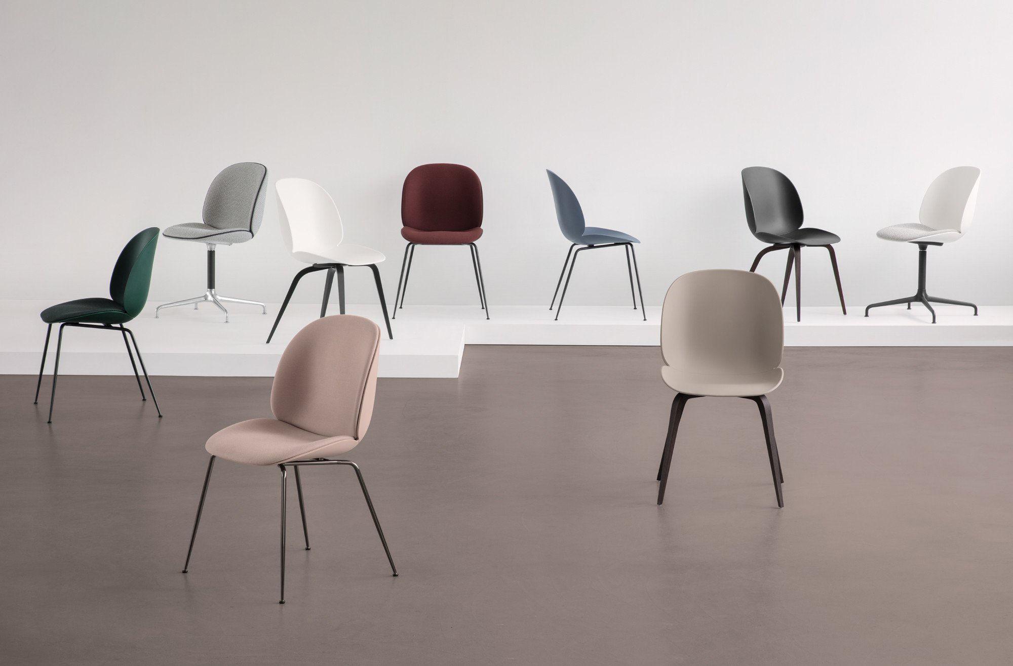 Sedia Imbottita Design : Beetle sedia imbottita gamfratesi plastica & tessuto nero