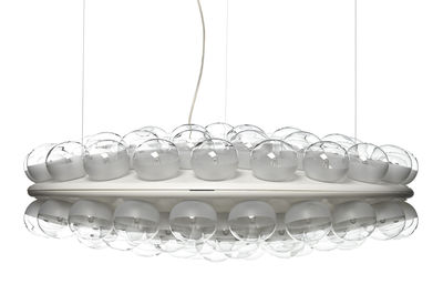 Illuminazione - Lampadari - Sospensione Prop Light - Round / 2 lati - Ø 73,5 cm di Moooi - Bianco - PMMA, Vetro