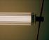 Sospensione WireLine LED - / Tubo vetro L 130 cm & cinghia caucciù di Flos