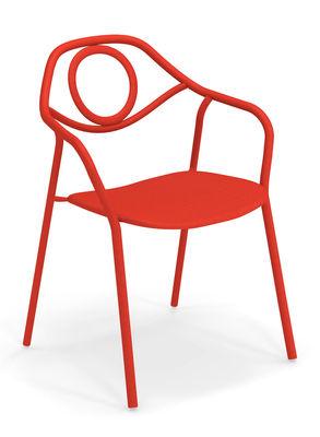 Zahir Stapelbarer Sessel / Metall - Emu - Rot