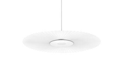 Suspension Carmen / LED - Ø 50 cm - Tissu plissé - Hartô blanc en tissu