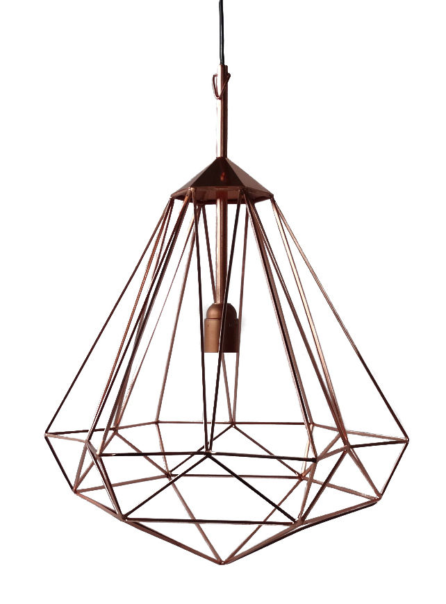 Luminaire - Suspensions - Suspension Diamant M / H 55 cm - Pols Potten - Cuivre / Medium - H 55 cm - Fer finition cuivre
