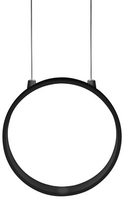 Suspension Eclittica LED / Ø 20 cm - Danese Light noir en métal