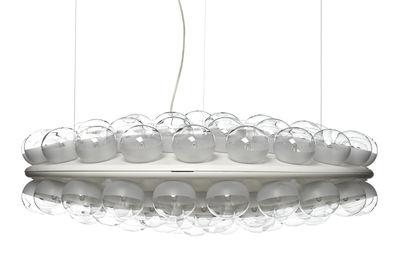 Suspension Prop Light Round / 2 faces - Ø 73,5 cm - Moooi blanc en verre/matière plastique