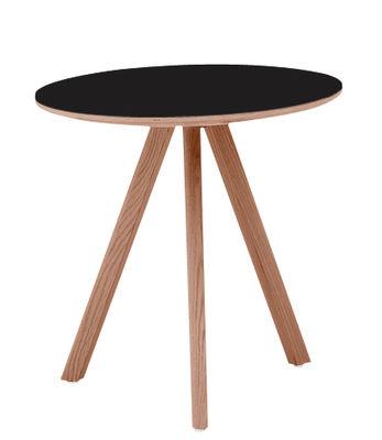Table basse Copenhague n°20 / Ø 50 x H 49 cm - Hay noir/bois naturel en bois