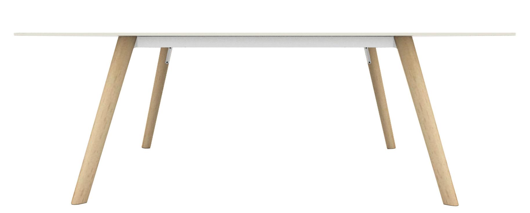 Mobilier - Tables - Table Pilo / 200 x 90 cm - Magis - Bois naturel / blanc - Fonte d'aluminium, Frêne massif, HPL