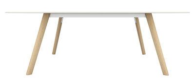 Mobilier - Tables - Table rectangulaire Pilo / 200 x 90 cm - Magis - Bois naturel / blanc - Fonte d'aluminium, Frêne massif, HPL