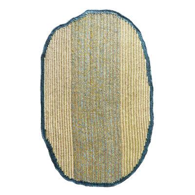 Interni - Tappeti - Tappeto Uilas Medium - / 280 x 180 cm - Fibre naturali di ames - Blu - Fibra di frucraea, Lana vergine