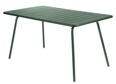 Outdoor - Tavoli  - Tavolo rettangolare Luxembourg - rettangolare - 6 persone - L 143 cm di Fermob - Cedro - Alluminio laccato
