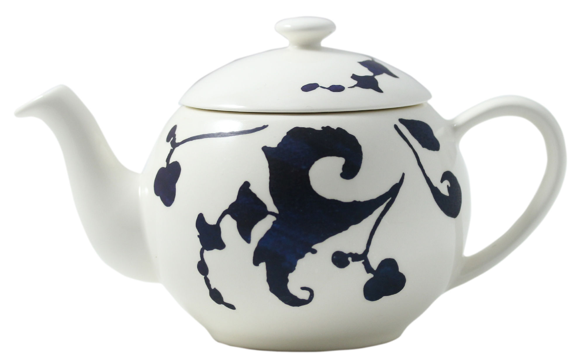 Küche - Teekannen und Wasserkessel - Indigo Teekanne / 45 cl - GIEN - Blaue Motive auf weißem Grund - Faïence fine de Gien