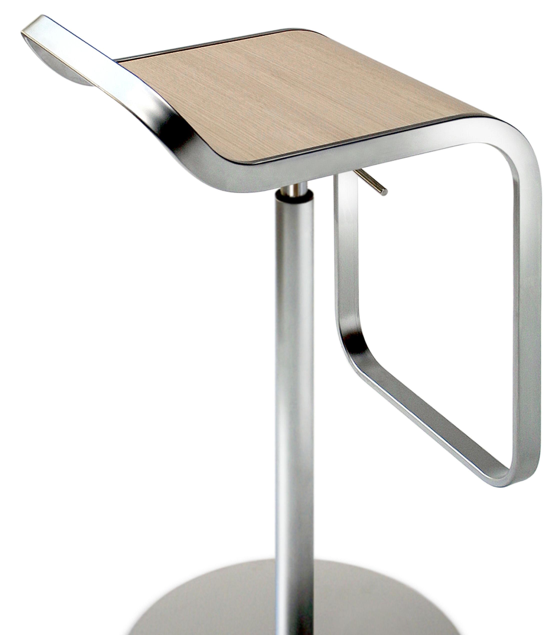 Furniture Bar Stools Lem Adjule Stool Pivoting Wood Seat By Lapalma