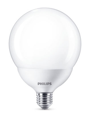 Ampoule LED E27 Globe dépolie / 18W (120W) - 2000 lumen - Philips blanc dépoli en verre