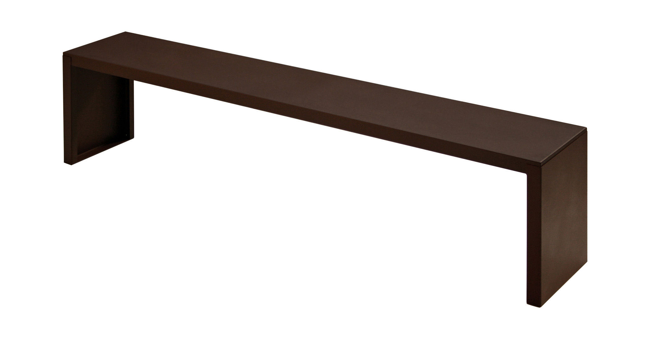 Furniture - Benches - Rusty Irony Bench - L 130 cm by Zeus - W 130 cm - Rust - Phosphated steel