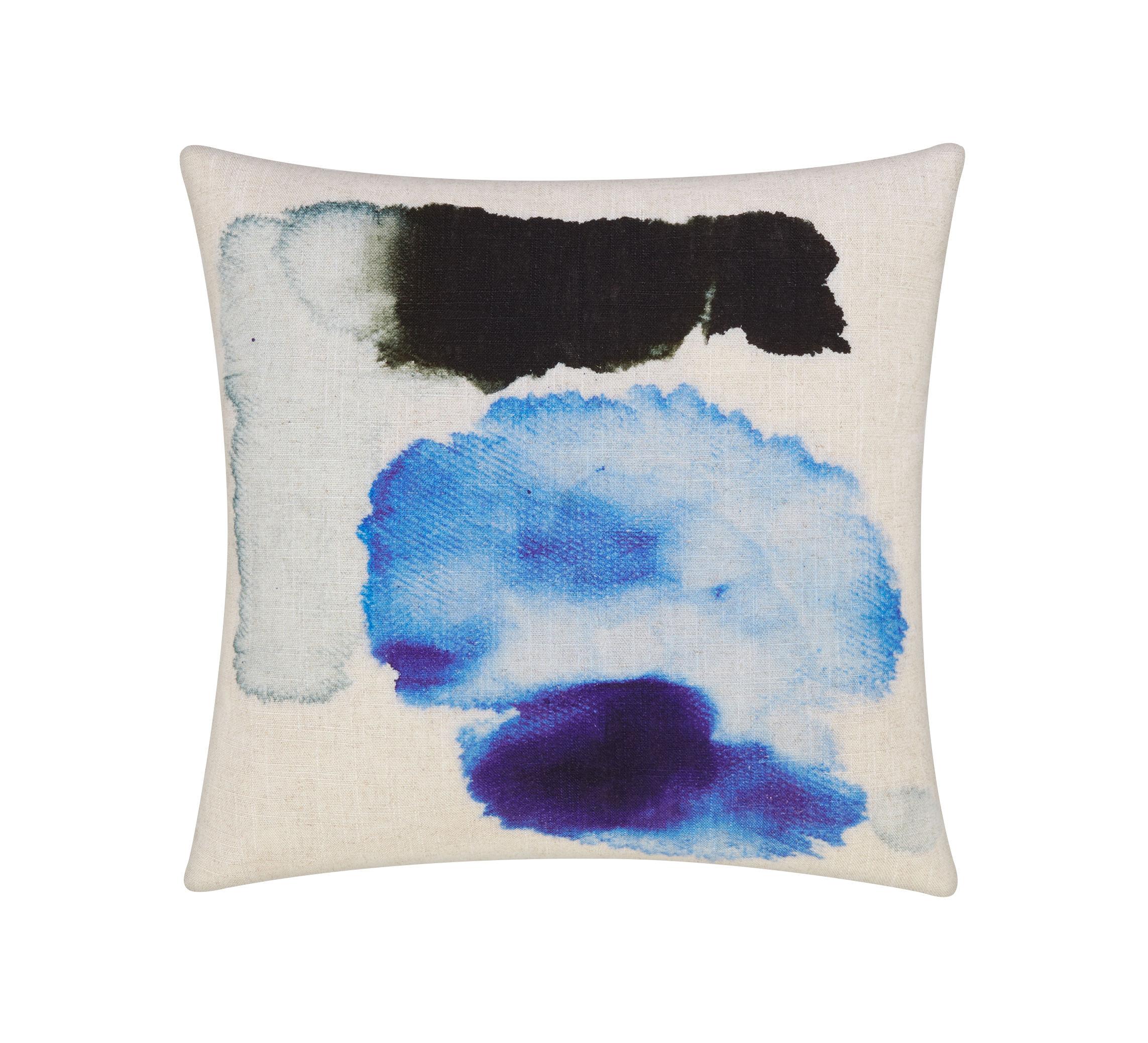 Déco - Coussins - Coussin Blot / 45 x 45 cm - Tom Dixon - 45 x 45 cm / Bleu - Lin, Plumes canard, Viscose