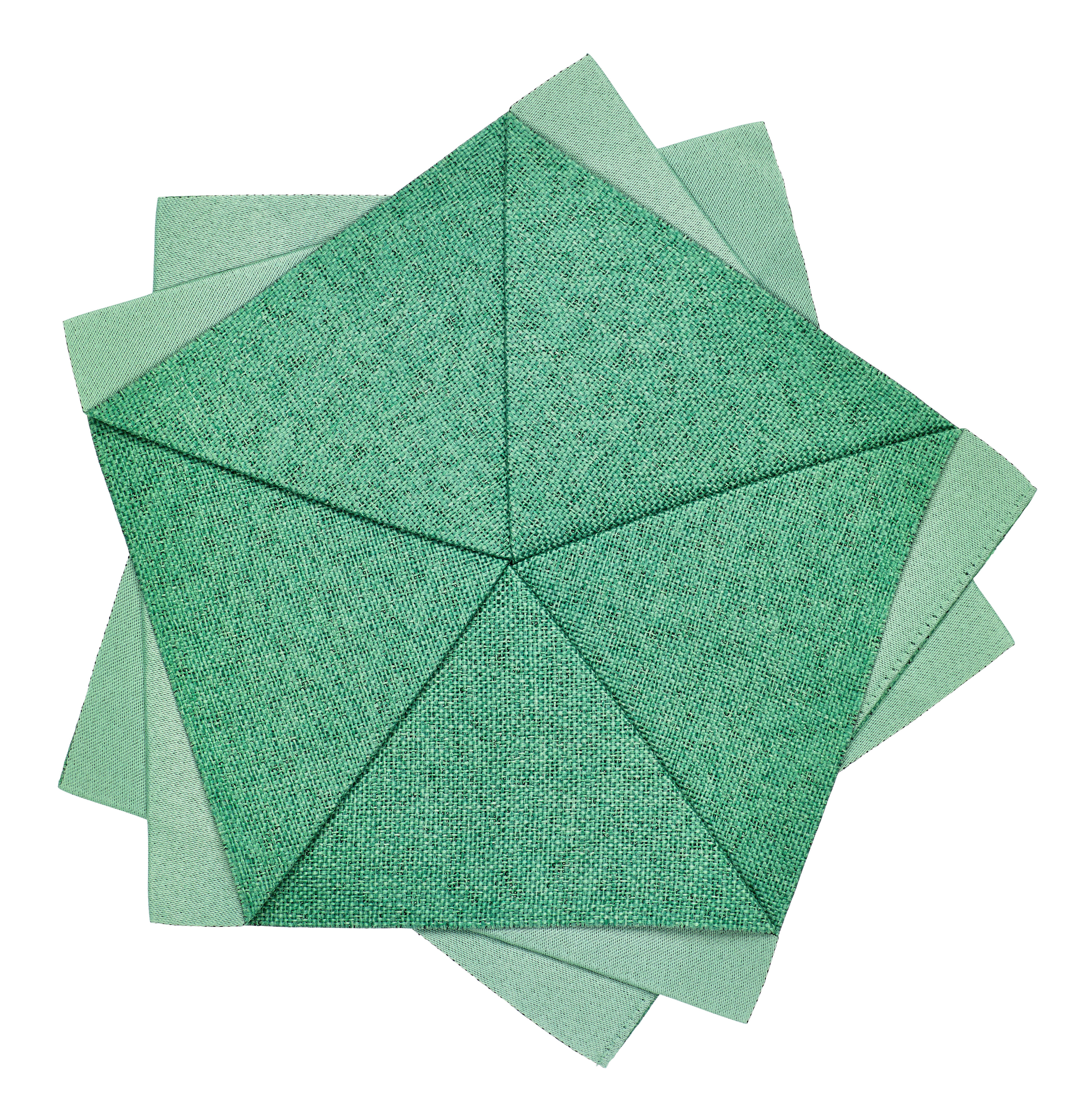 Tableware - Napkins & Tablecloths - Iittala X Issey Miyake Decoration - Table flower - Ø 20 cm by Iittala - Emerald - Polyester