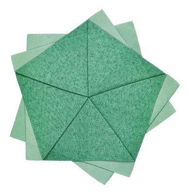 Tavola - Tovaglie e Tovaglioli - Decorazione Iittala X Issey Miyake / Fiore da tavolo - Ø 20 cm - Iittala - Smeraldo - Poliestere