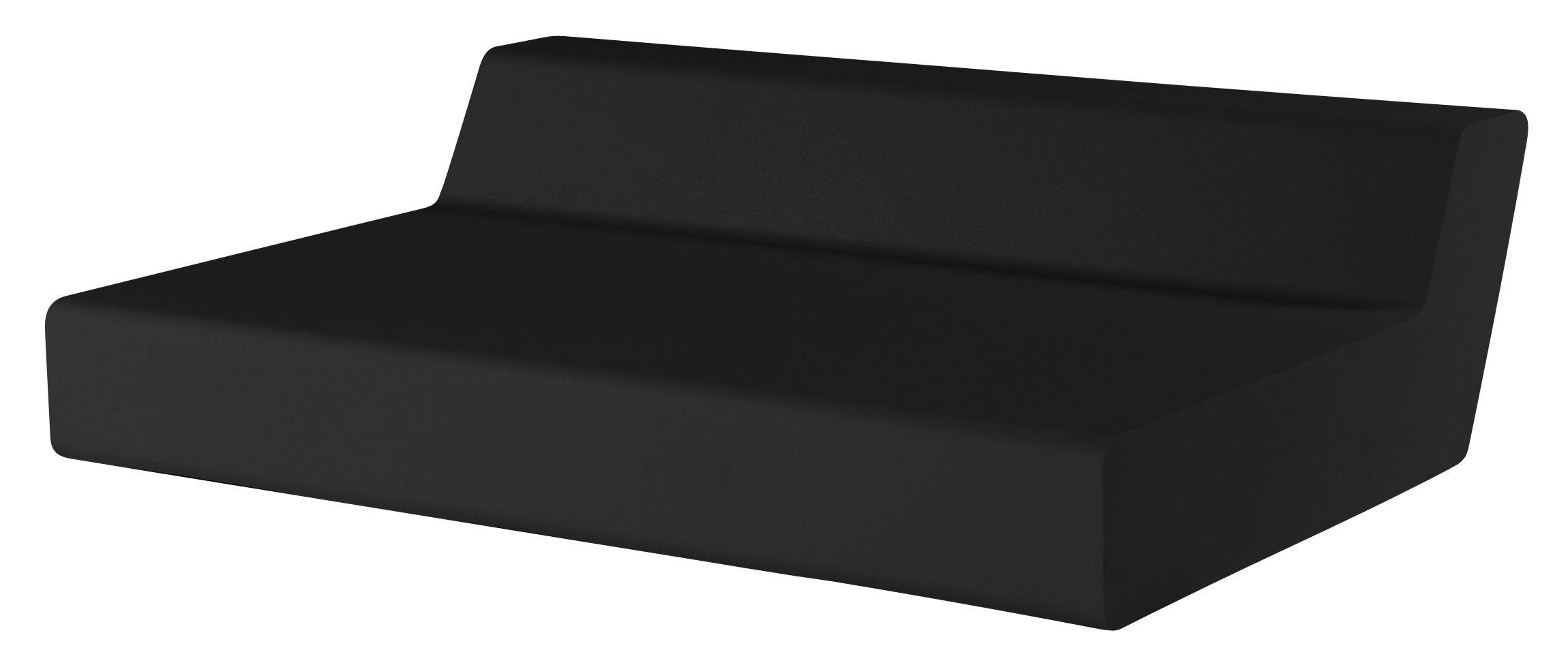 Arredamento - Divani moderni - Divano destro Matrass Seat 150 - h 20 cm - 2 posti di Quinze & Milan - Nero - Schiuma di poliuretano