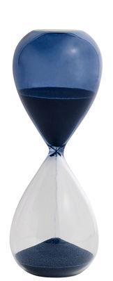Dekoration - Dekorationsartikel - Time Medium Eieruhr / 15 Minuten - H 15 cm - Hay - Petrolblau - Glas, Sand