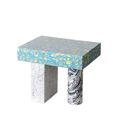 Furniture - Coffee Tables - Swirl End table - / Recycled composite material - 36 x 27 cm by Tom Dixon - Multicoloured - Recycled marble powder, Resin