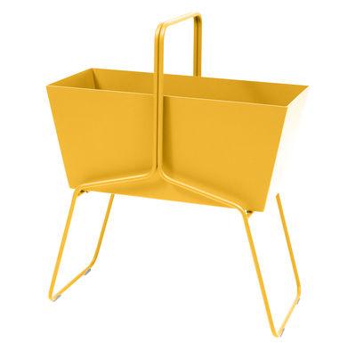 Outdoor - Pots & Plants - Basket Flowerpot - L 70 x H 84 cm by Fermob - Honey - Aluminium, Steel
