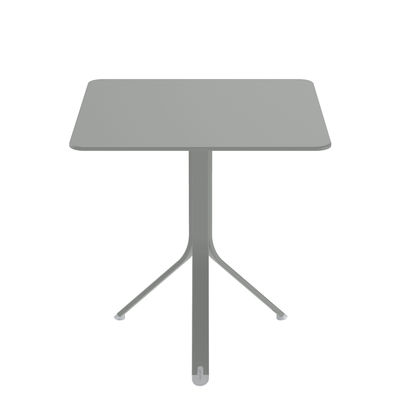 Outdoor - Garden Tables - Rest'o Foldable table - / 71  x 71 cm - 2 people / Tilting top by Fermob - Metal grey - Painted aluminium, Painted steel