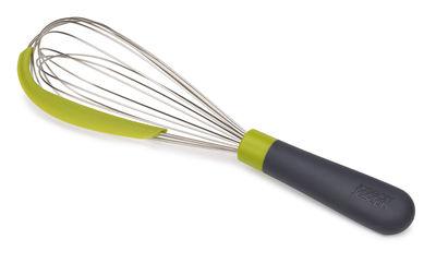 Cucina - Utensili da cucina - Frusta da cucina Whiskle - / Spatola silicone integrata di Joseph Joseph - Verde & grigio scuro - Acciaio inossidabile, Plastica, Silicone
