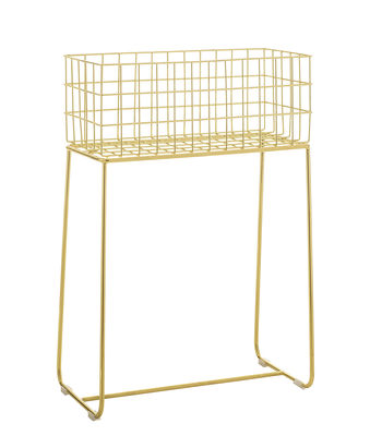 Möbel - Aufbewahrungsmöbel - Deer Korb / Blumenkasten - L 50 cm x H 75 cm - Bloomingville - Goldfarben - Metall