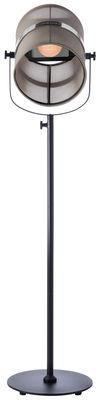 Luminaire - Lampadaires - Lampadaire solaire La Lampe Paris LED / Sans fil - Dock USB - Maiori - Taupe clair / Pied noir - Aluminium peint, Tissu