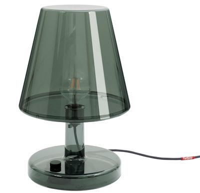 Lampe de table Trans-parents / Ø 32 x H 50 cm - Fatboy gris foncé transparent en matière plastique