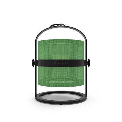 Lampe solaire La Lampe Petite LED / Hybride & connectée - Structure charbon - Maiori charbon,vert prairie en métal