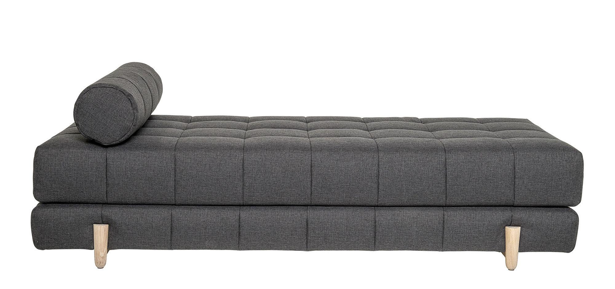 lit de jour bulky bloomingville gris fonc ch ne. Black Bedroom Furniture Sets. Home Design Ideas