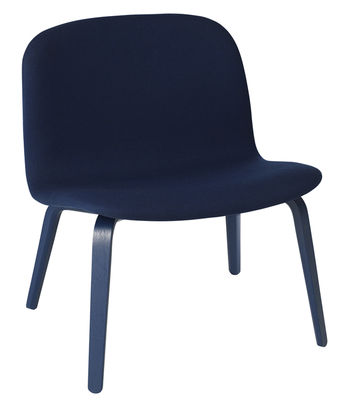 Visu Lounge Sessel / gepolstert - Muuto - Dunkelblau