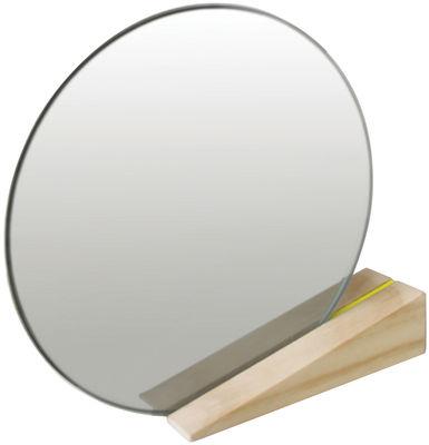 Miroir à poser On the edge - Thelermont Hupton jaune,bois clair en bois