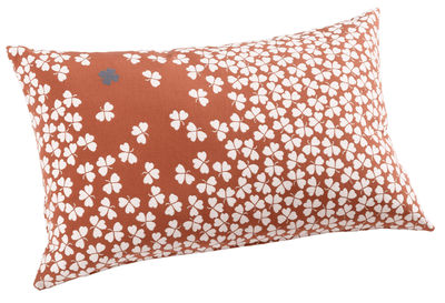 Outdoor - Ornaments & Accessories - Trèfle Outdoor cushion by Fermob - Coral - Fabric, Foam