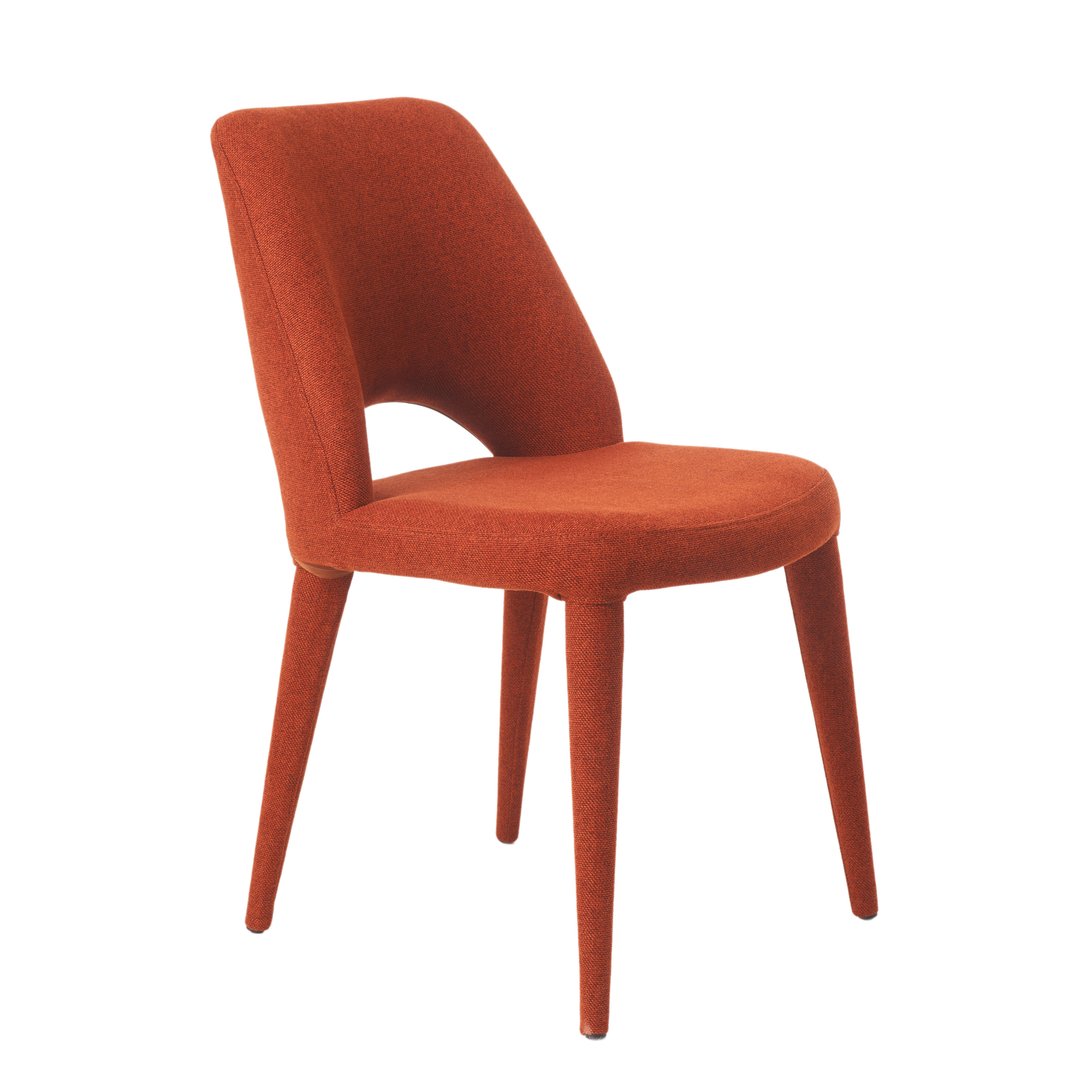 Furniture - Chairs - Holy Padded chair - / Fabric by Pols Potten - Rust red - Foam, Metal, Polyester fabric