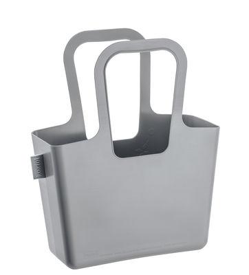 Accessoires - Sacs, trousses, porte-monnaie... - Panier Taschelino / L 33 x H 38 cm - Koziol - Gris clair - Plastique