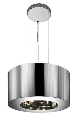 Lighting - Pendant Lighting - Tian Xia 500 LED Pendant by Artemide - Mirror / colored or white light - Polished aluminium, Thermoplastic resin