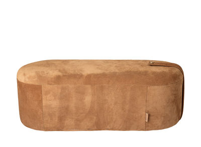 Möbel - Sitzkissen - Time Sitzkissen / Leder - L 100 cm x H 35 cm - Bloomingville - Cognac - Rostfreier Stahl
