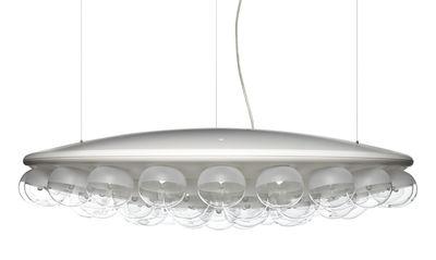 Illuminazione - Lampadari - Sospensione Prop Light - Round / 1 lato - Ø 73,5 cm di Moooi - Bianco - PMMA, Vetro