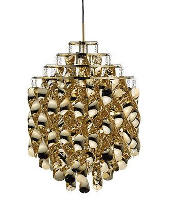 Illuminazione - Lampadari - Sospensione Spiral SP01 - Ø 45 cm - Panton 1969 di Verpan - Dorato - Acrilico, Metallo