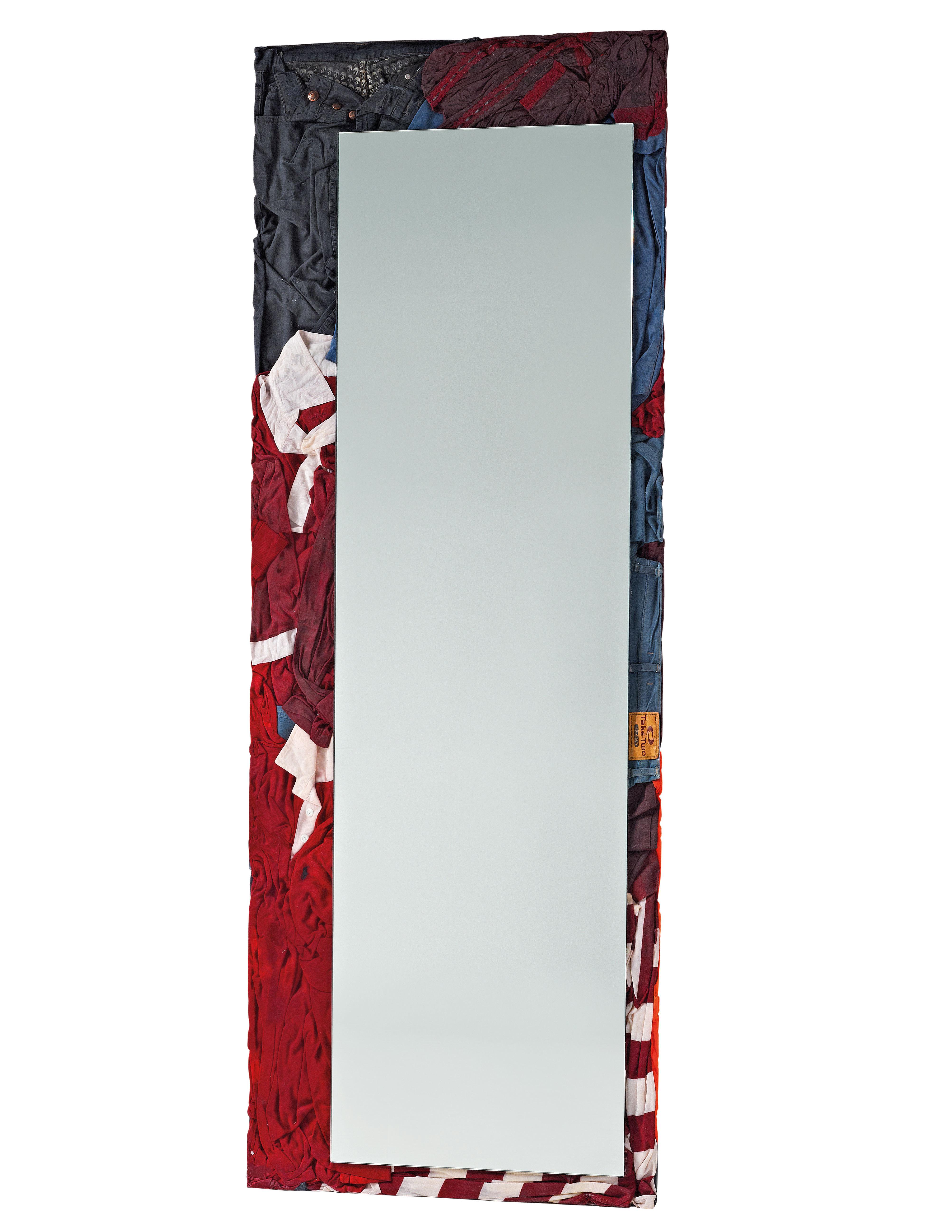 Interni - Specchi - Specchio da appoggiare Rememberme - / Vestiti riciclati - H 195 cm di Casamania - Multicolore -  Vêtements recyclés, Resina, Vetro