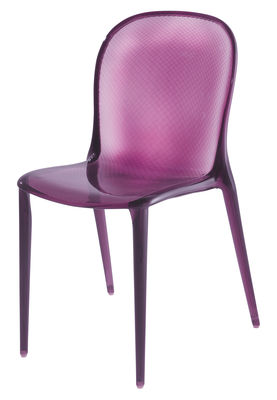 Furniture - Chairs - Thalya Stacking chair - Polycarbonate by Kartell - Purple - Polycarbonate