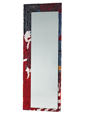 Dekoration - Spiegel - Rememberme Stellspiegel / aus recycelten Kleidungsstücken - H 195 cm - Casamania - Mehrfarbig -  Vêtements recyclés, Glas, Harz